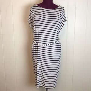 Boob Design Striped Knit Maternity Dress